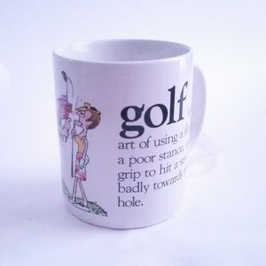 Vintage 80s Golf Coffee Mug Cup Humor Dad Gift